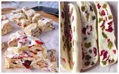 美食:用奶粉做次牛轧糖和雪花酥,还挺成功