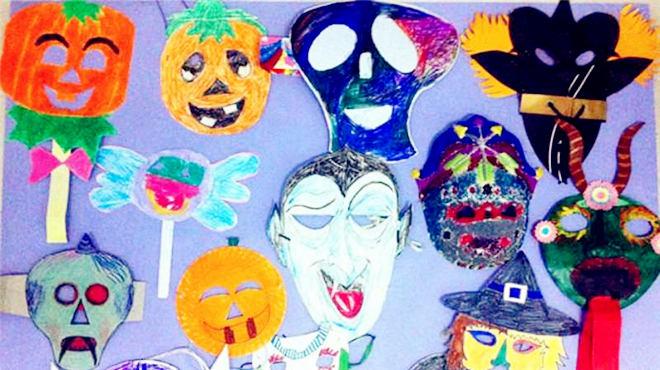 我们的万圣节活动来啦~主题面具彩绘,还有暖暖哒的陶艺……