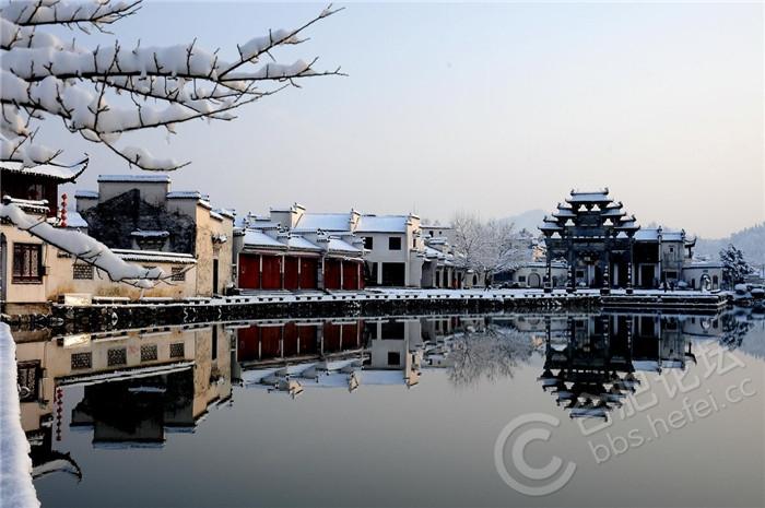 乡村雪景  (黟县)胡国权摄.JPG