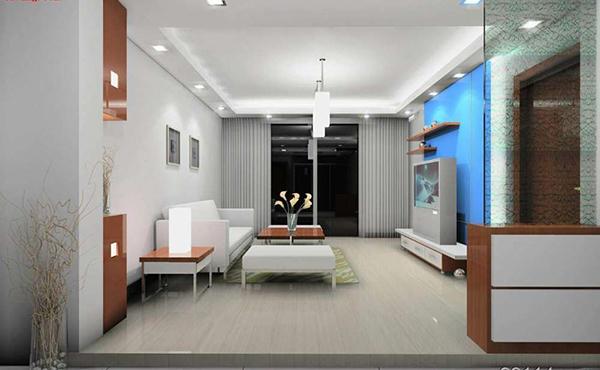而暖色系或冷色系墙面颜色在大面积的使用时都会彰显