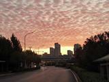 合肥的早晨,漂亮的云彩