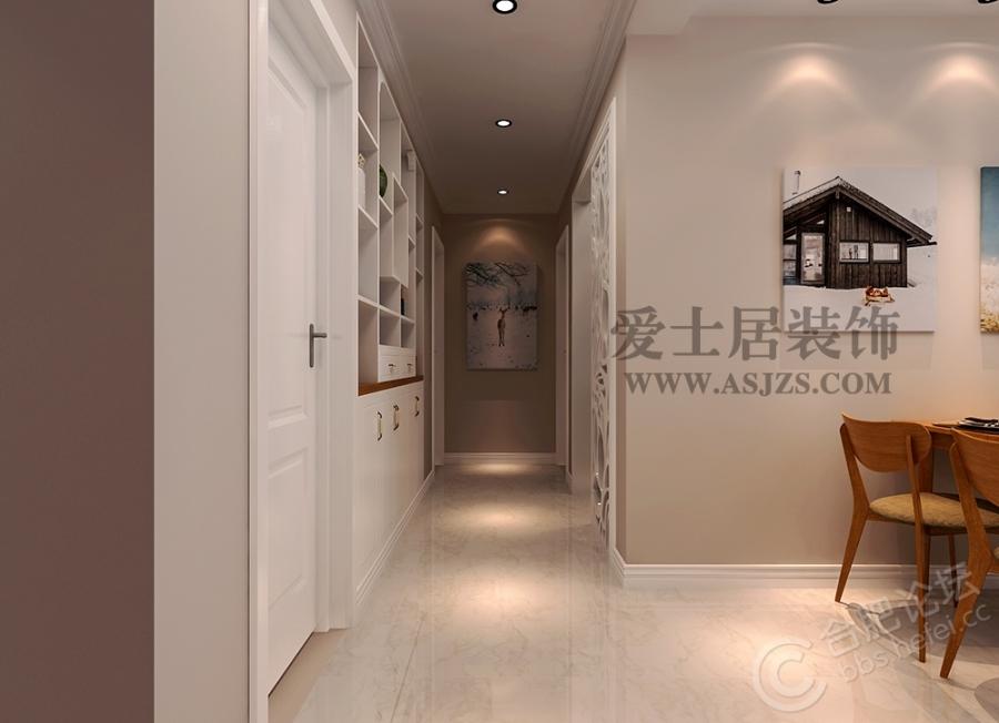 【爱士居装饰】庐阳佳苑114平美式风格装修效果图/户型图/样板房