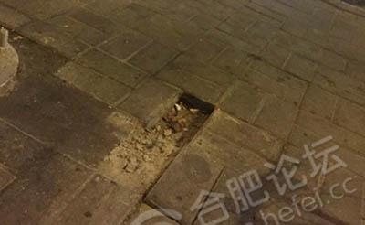 【当心】人行道地砖莫名少了好几块,潜藏隐患