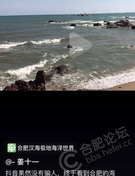 抖音上名为合肥汉海极地海洋世界发布虚假宣传,视频中