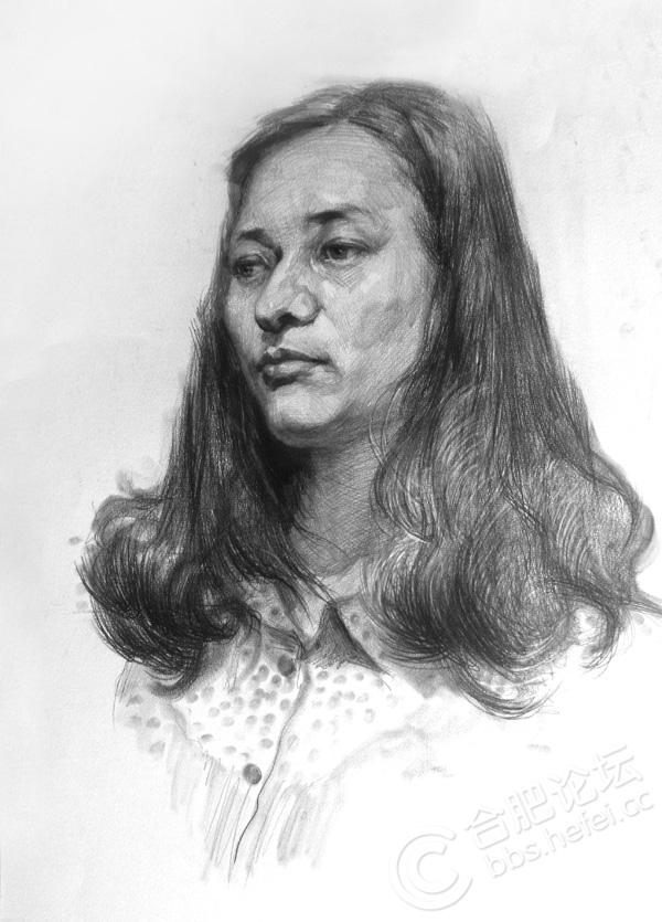 素描人物头像口的画法