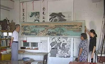 【点赞】肥西七旬老人爱画画,临摹十大名国画