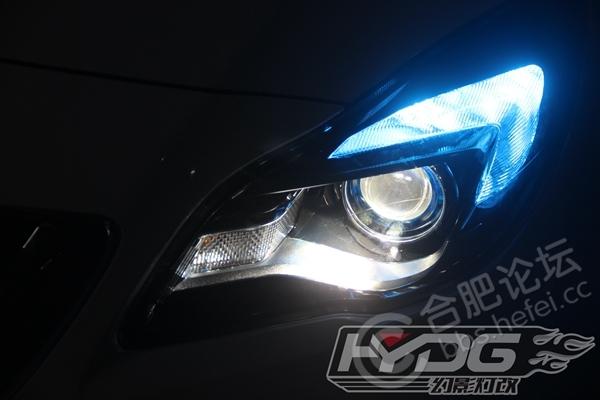 新君威汽车灯光升级